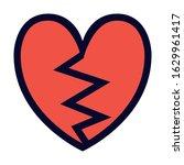broken heart. simple vector... | Shutterstock .eps vector #1629961417