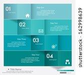 design clean number banners... | Shutterstock .eps vector #162998639
