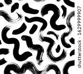 wavy and swirled brush strokes... | Shutterstock .eps vector #1629999907