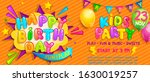 invitation for kids party on... | Shutterstock .eps vector #1630019257