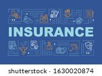 insurance word concepts banner. ...