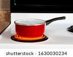 Horizontal Shot Of A Red Pan O...