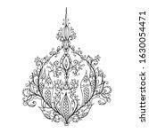 ornate pattern hand drawn... | Shutterstock .eps vector #1630054471