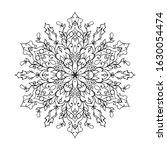 outline mandala for coloring... | Shutterstock .eps vector #1630054474