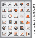 statistical diagrams used for... | Shutterstock .eps vector #163006424