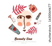 modern cosmetic banner with... | Shutterstock .eps vector #1630064677