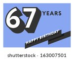 60,60th,67,67th,anniversary,banner,birth,birthday,card,celebrate,celebration,decoration,design,flat,frame