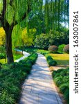 landscape of west lake park.... | Shutterstock . vector #163007861
