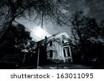 Old Spooky House - stock photo