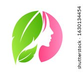woman face in leaves design... | Shutterstock .eps vector #1630134454