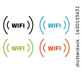 wireless and wifi icons.... | Shutterstock .eps vector #1630135651