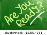 are you ready concept | Shutterstock . vector #163014161