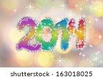 happy new year 2014 background... | Shutterstock . vector #163018025