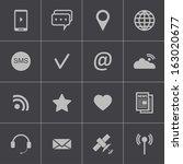 vector black  communication... | Shutterstock .eps vector #163020677
