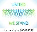 united people icons or... | Shutterstock .eps vector #163025351