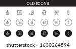 old icons set. collection of...