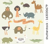 childish illustration of... | Shutterstock .eps vector #163030679