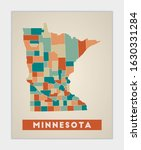 Minnesota Poster. Map Of The Us ...