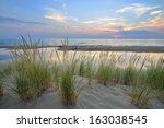 Sunset On Lake Michigan Sand...