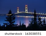Mackinac Bridge Under Moonligh...