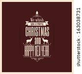 vintage christmas card | Shutterstock .eps vector #163038731