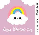 happy valentines day. cloud...   Shutterstock . vector #1630439434