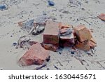 Bricks Washed Up On The Beach