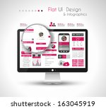 ui flat design elements in a...
