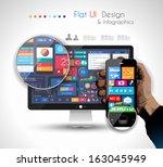 ui flat design elements in a...