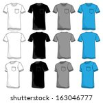 character with pockets turned outward pocket tshirt template