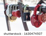 Colourful And Rusty Love Locks...