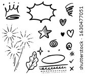 hand drawn set elements  for... | Shutterstock .eps vector #1630477051