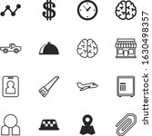 business vector icon set such... | Shutterstock .eps vector #1630498357
