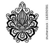 beautiful decorative flower ... | Shutterstock . vector #163050581