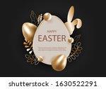 3d Easter Background. 3d...