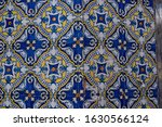 detail of an old facade of blue ...   Shutterstock . vector #1630566124
