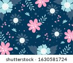 blue background decorated with... | Shutterstock .eps vector #1630581724