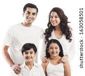 portrait of a happy family... | Shutterstock . vector #163058501