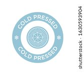 cold pressed icon for labels of ... | Shutterstock .eps vector #1630593904