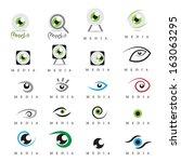 Eye   Media Icons Set  ...