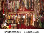 craft products for sale at a... | Shutterstock . vector #163063631