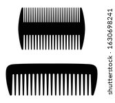 flat combs  icon set. wide...   Shutterstock .eps vector #1630698241