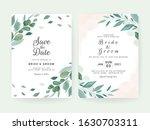 wedding invitation card...   Shutterstock .eps vector #1630703311