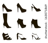Shoes silhouette collection for your design - Illustration