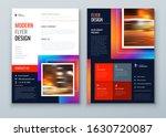 dark flyer design. modern flyer ... | Shutterstock .eps vector #1630720087