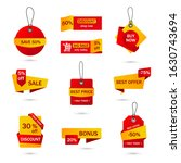 vector stickers  price tag ... | Shutterstock .eps vector #1630743694