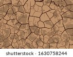 dry soil surface ground cracks... | Shutterstock .eps vector #1630758244