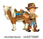 wild west   illustration for... | Shutterstock . vector #163075889