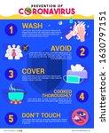 prevention of coronavirus... | Shutterstock .eps vector #1630797151