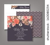 wedding invitation card with... | Shutterstock .eps vector #163080254